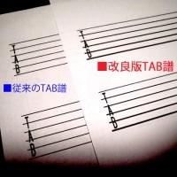ギター TAB譜 用紙 プリント