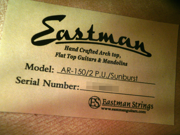 Eastman AR-150 フルアコ