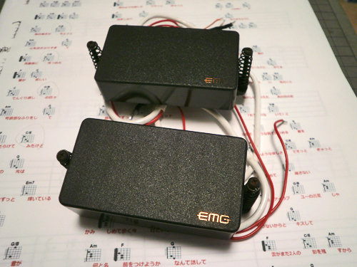 EMG,エレキ,ギター,81TW,89,85,SA,EMG-X,ピックアップ,アクティブ,PU,パッシブ,サウンド,音質,チェック,インプレッション,レビュー,弾き比べ