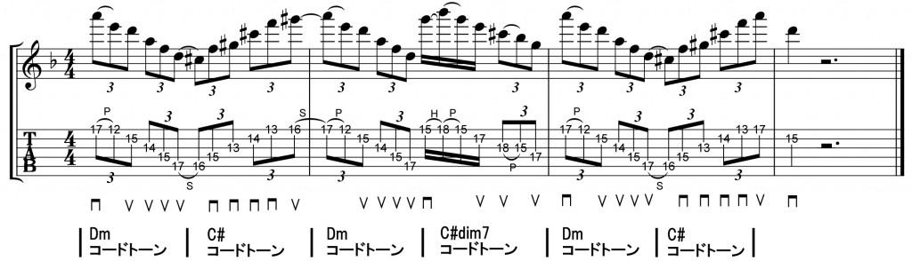 スウィープ,フレーズ,奏法,ディミニッシュ,マイナー,メジャー,レッスン,弾き方,やり方,とは,ピッキング,方法,エコノミー